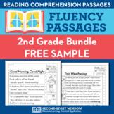 2nd Grade Fluency Homework Sampler (FREE) Reading Comprehension Passages