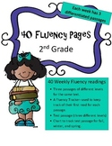 Differentiated 2nd Grade Fluency Passages (41 weeks: 3 levels per passage)