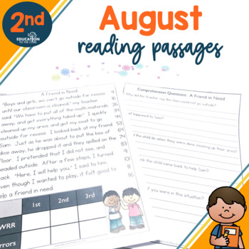2nd Grade Fluency Passages for August