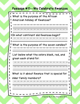 2nd Grade Fluency Passages with Comprehension Questions Set B (#11-20)