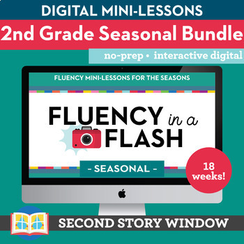 2nd Grade Fluency in a Flash SEASONAL GROWING bundle • Digital Mini Lessons