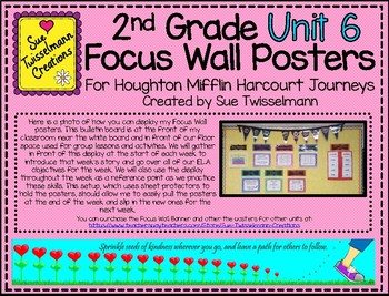 2nd Grade Focus Wall Posters for Houghton Mifflin Harcourt Journeys Unit 6