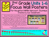 BUNDLE: 2nd Grade Focus Wall Posters for Journeys (Units 1