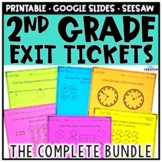 2nd Grade Math Exit Tickets & Slips Assessment Bundle