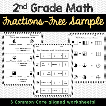 2nd Grade Fractions Free Sample