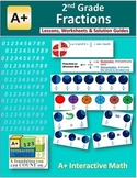 2nd Grade Fractions Lessons, Worksheets, Solution Manuals