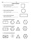 2nd Grade Fractions Pre-Assessment