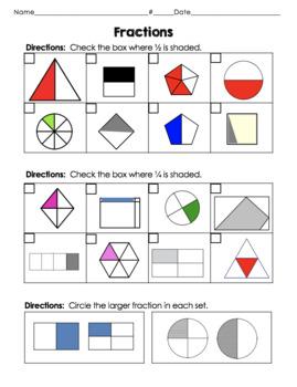 2nd Grade Fractions Unit