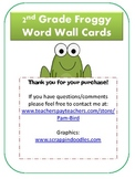 2nd Grade Froggy Word Wall Cards