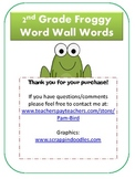 2nd Grade Froggy Word Wall Words