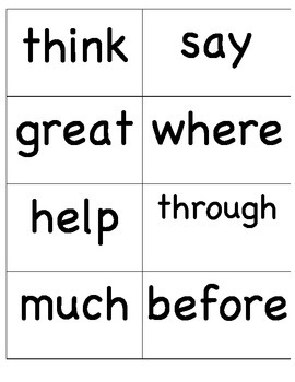 2nd Grade Fry Sight Words (100-200)