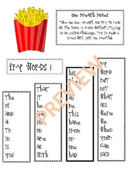 2nd Grade Fry Words - One Breath Boxes