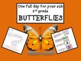 Butterflies - Common Core Aligned Full Day for Your Sub
