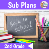 Back to School Activities for 2nd Grade Sub Plans
