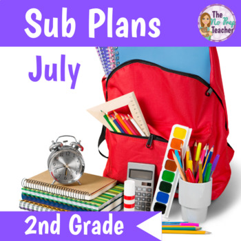2nd Grade Full Day Sub Plans July