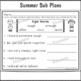 2nd Grade Full Day Sub Plans Summer