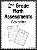 2nd Grade Geometry Math Assessments - Pre and Post Tests