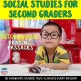 Social Studies Passages bundle for Second Grade GSE