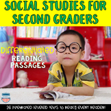 Social Studies Passages bundle for Second Grade GSE