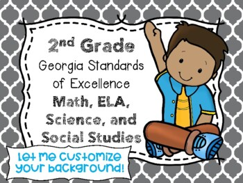 2nd Grade Georgia Standards of Excellence I Can Statements for All Subjects