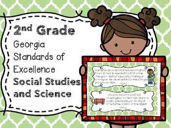 2nd Grade GA Standards of Excellence Social Studies and Science I Can Statements