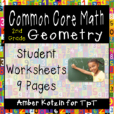2nd Grade *GEOMETRY* Common Core Worksheets