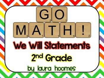 2nd Grade GO MATH We Will Statements