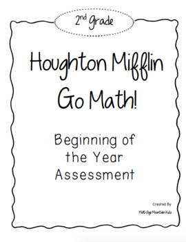 2nd Grade GO! Math Beginning of the Year Assessment