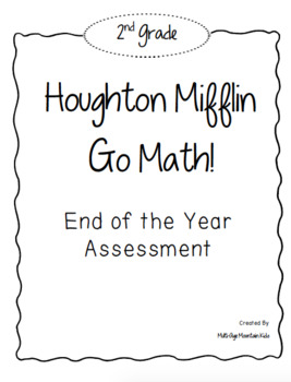 2nd Grade GO! Math End of Year Test