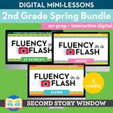 2nd Grade Spring Reading Fluency in a Flash Digital Mini Lessons Bundle (6wks)