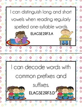 2nd Grade GSE I CAN Statements