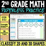 2nd Grade Geometry 2D Shapes 3D Shapes Google Classroom Di