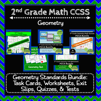 2nd Grade Geometry Bundle: 2nd Grade Geometry Curriculum Math MEGA Bundle