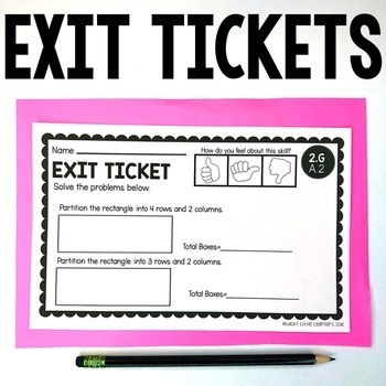 2nd Grade Geometry Exit Tickets