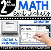 2nd Grade Geometry Exit Tickets (Exit Slips)