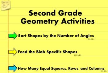 2nd Grade Geometry Flipchart Activities