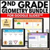 2nd Grade Geometry Google Classroom Distance Learning Bundle