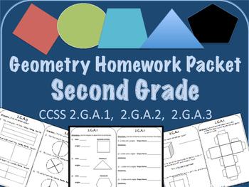 2nd Grade Geometry Homework Packet