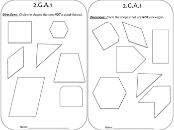 2nd Grade Geometry Homework Packet