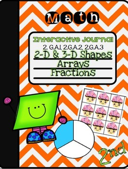 2nd Grade Geometry Interactive Notebook- CC Standards 2.G.A.1, 2.G.A.2, 2.G.A.3