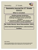 2nd Grade Geometry Interactive Student Journal
