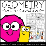2nd Grade Geometry Math Centers