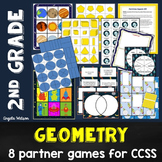 Geometry 2nd Grade: 8 math games for Common Core