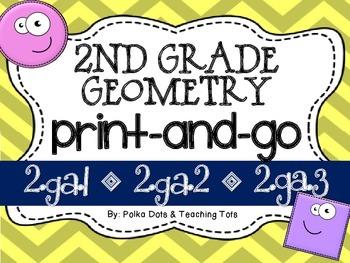 2nd Grade Geometry {Print & Go}