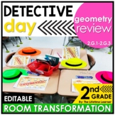 2nd Grade Geometry Review   Detective Math Room Transformation