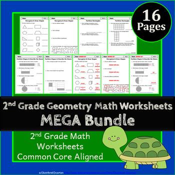 2nd Grade Geometry Worksheets: 2nd Grade Math Worksheets, Geometry