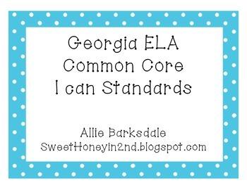 2nd Grade GA ELA Common Core Standards