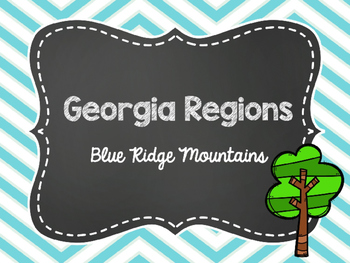 2nd Grade Georgia Regions: Blue Ridge Mountains Power Point FREEBIE