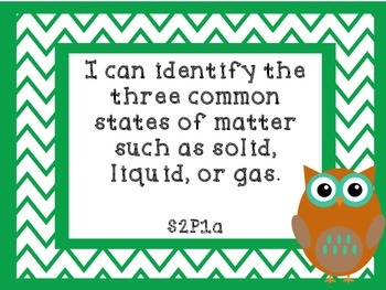 2nd Grade Georgia Science and Social Studies I Can Statements-Owl