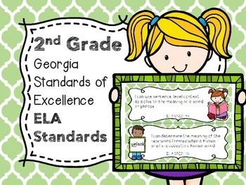 2nd Grade Georgia Standards of Excellence ELA I Can Statements